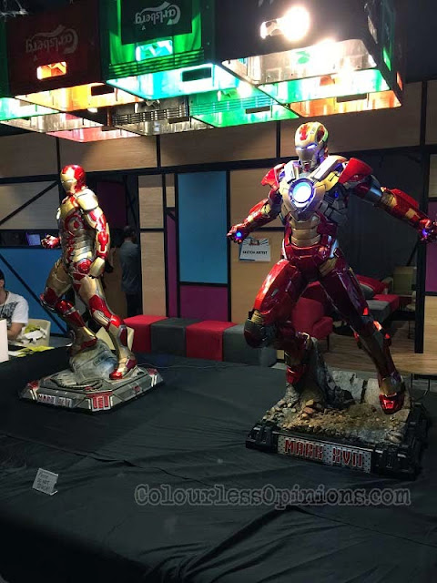 TGV Superhero Bash large iron man figurines toys