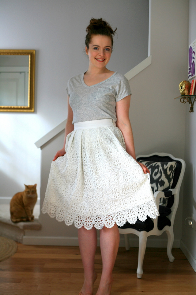 A (super simple) spring midi skirt, linen and lace / Create / Enjoy
