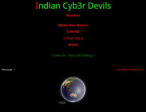 China Bank Network Website Defaced By Indian Cyb3r D3V!LS ...