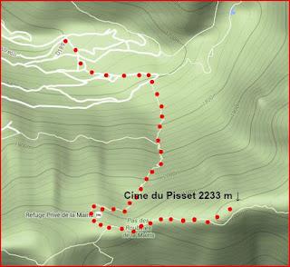 Cime du Pisset trail image
