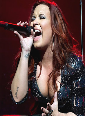 demi lovato faith tattoo design
