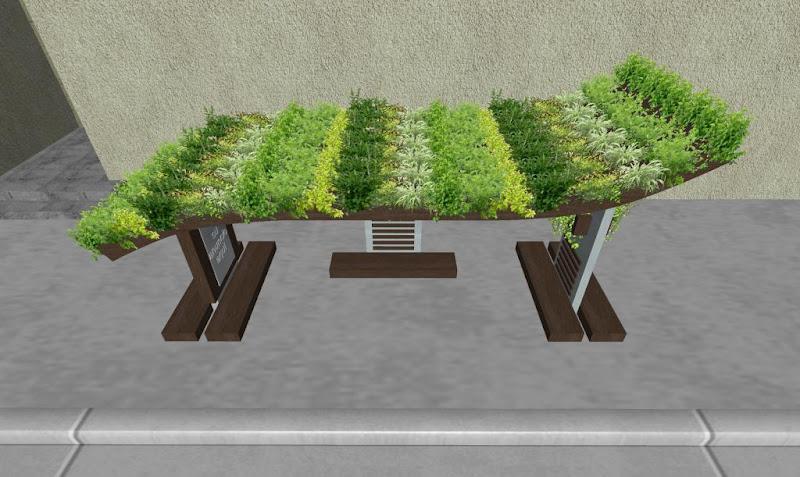 Parabus Ecologico - Ondine 1 - Con Jardin en la Azotea y Macetas con Plantas Colgantes - Zen Ambient - Mexico