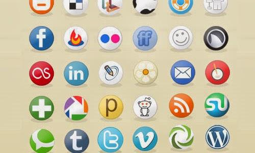Social Media Circles Icon Set