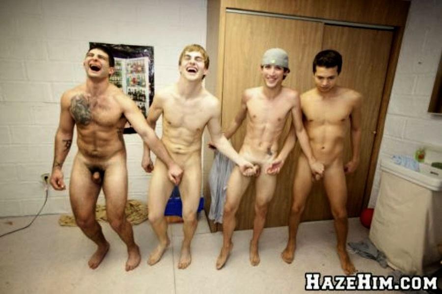 Naked Frat Boy Pledges