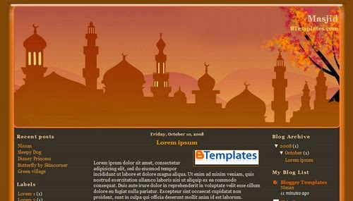 Masjid - Free Blogger Template