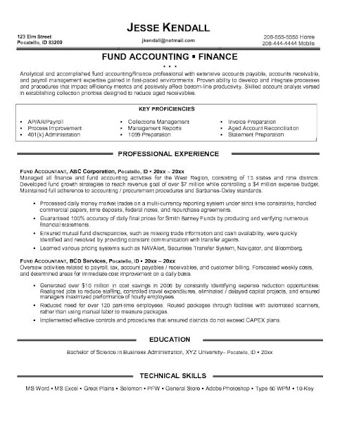 Accountant Resume Sample2