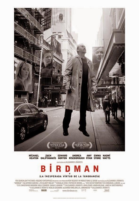 Póster en español de 'Birdman o (la inesperada virtud de la ignorancia)'