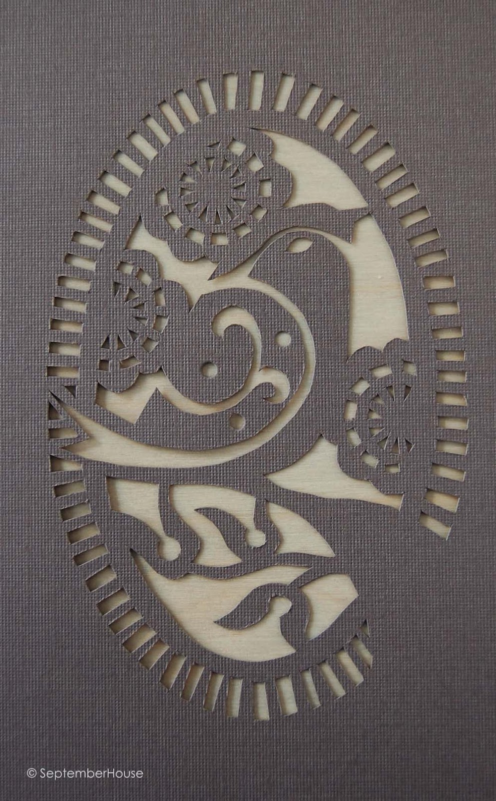 Bird Design papercutting
