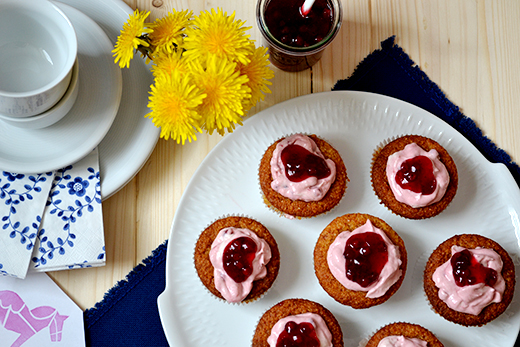 Schwedische Preiselbeer-Cupcakes vegan glutenfrei Holunderweg18 Foodblog