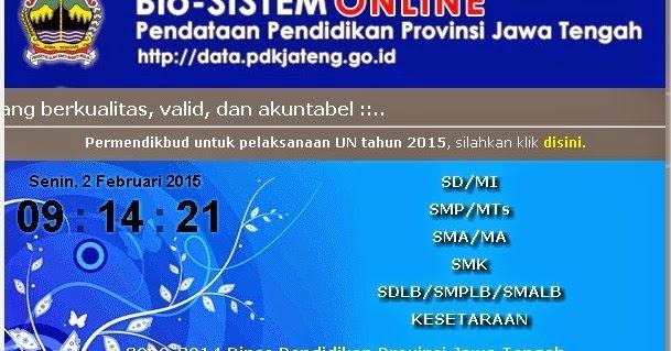 Langkah Edit Nama Siswa Un Di Bio System Online 2014 2015 Sd Negeri Tambaharjo