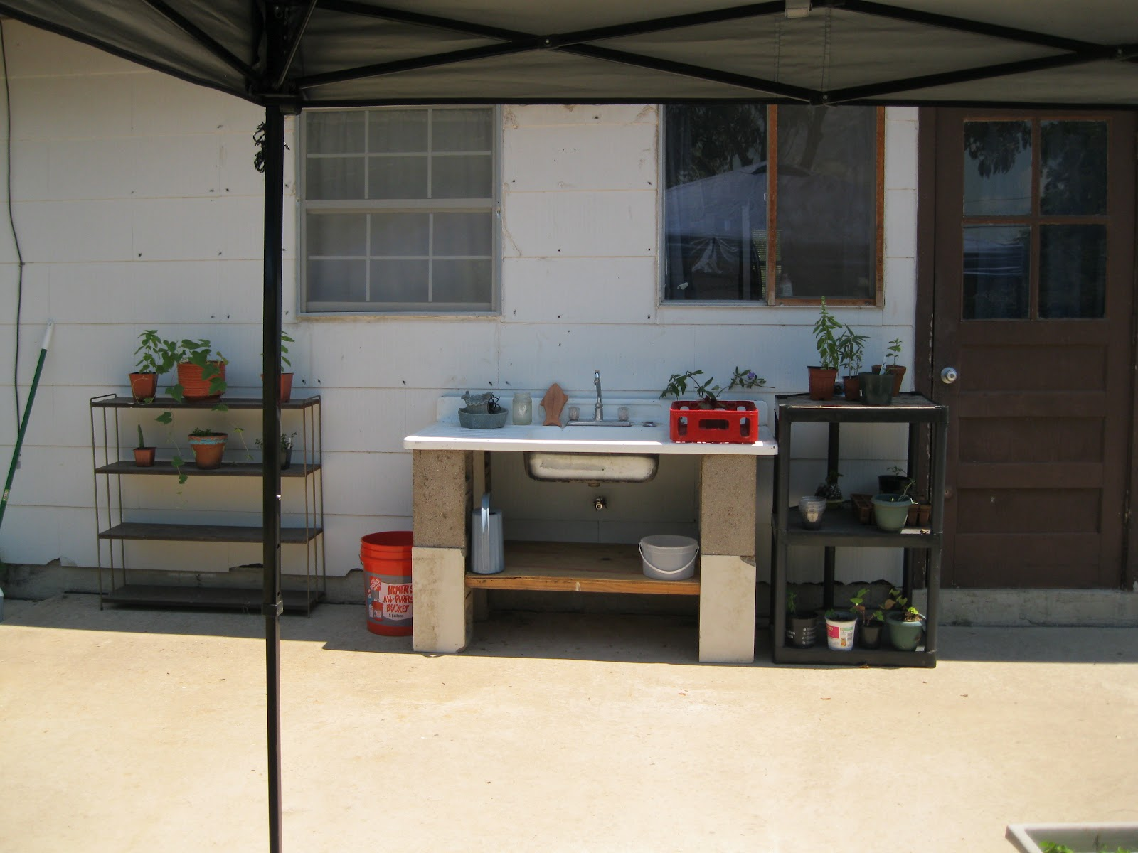 blogging with goodly intentions our outdoor sink on cinder blocks