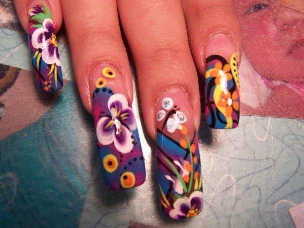 Nail Art Idea Colorful Nail Art Gallery