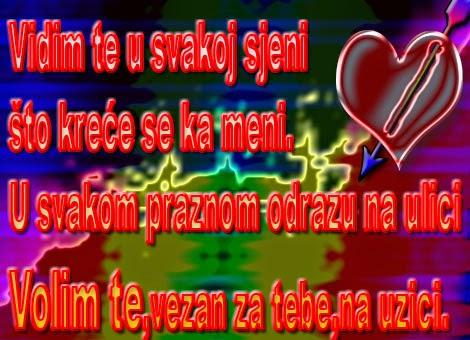volim te ljubavna poruka stih