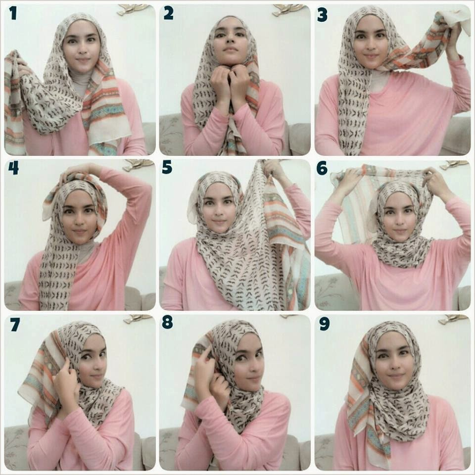 Cara Pakai Hijab Cara Memakai Hijab Modern Pashmina Simple Mudah