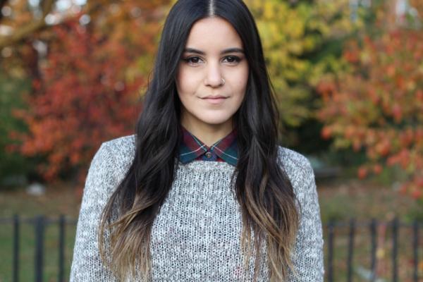 Jessica Lemos jess jesslemos abercrombie & fitch #afstlist flannel sweater ombre wavy hair