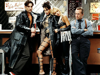 Rosario Dawson Jessica Abla hot black leather blonde Sin City Bruce Willis movie HD HQ picture