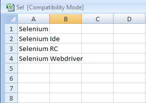 Datadriven or Parameterization in Selenium Webdriver