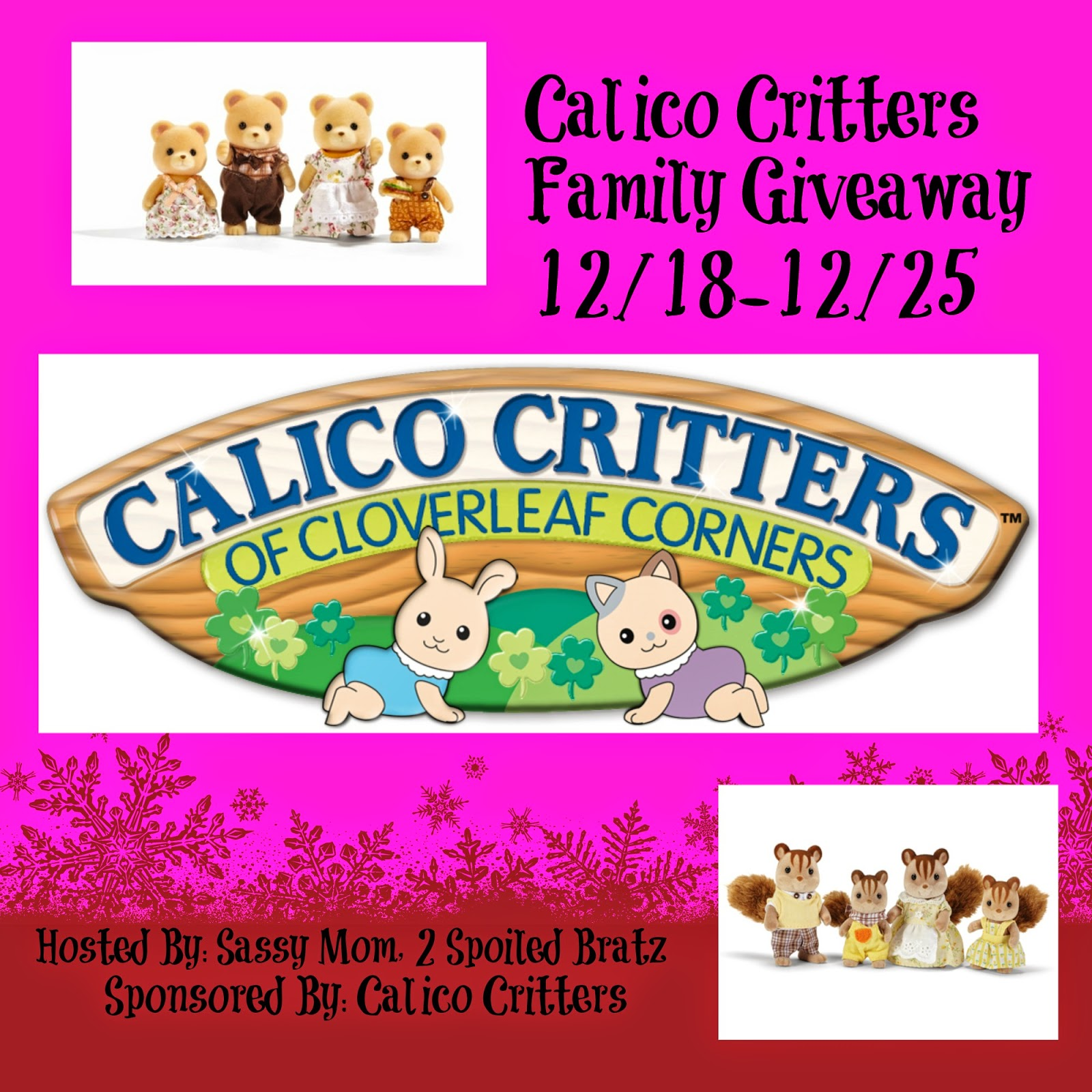 Calico Critters Family Giveaway US Ends 12/25