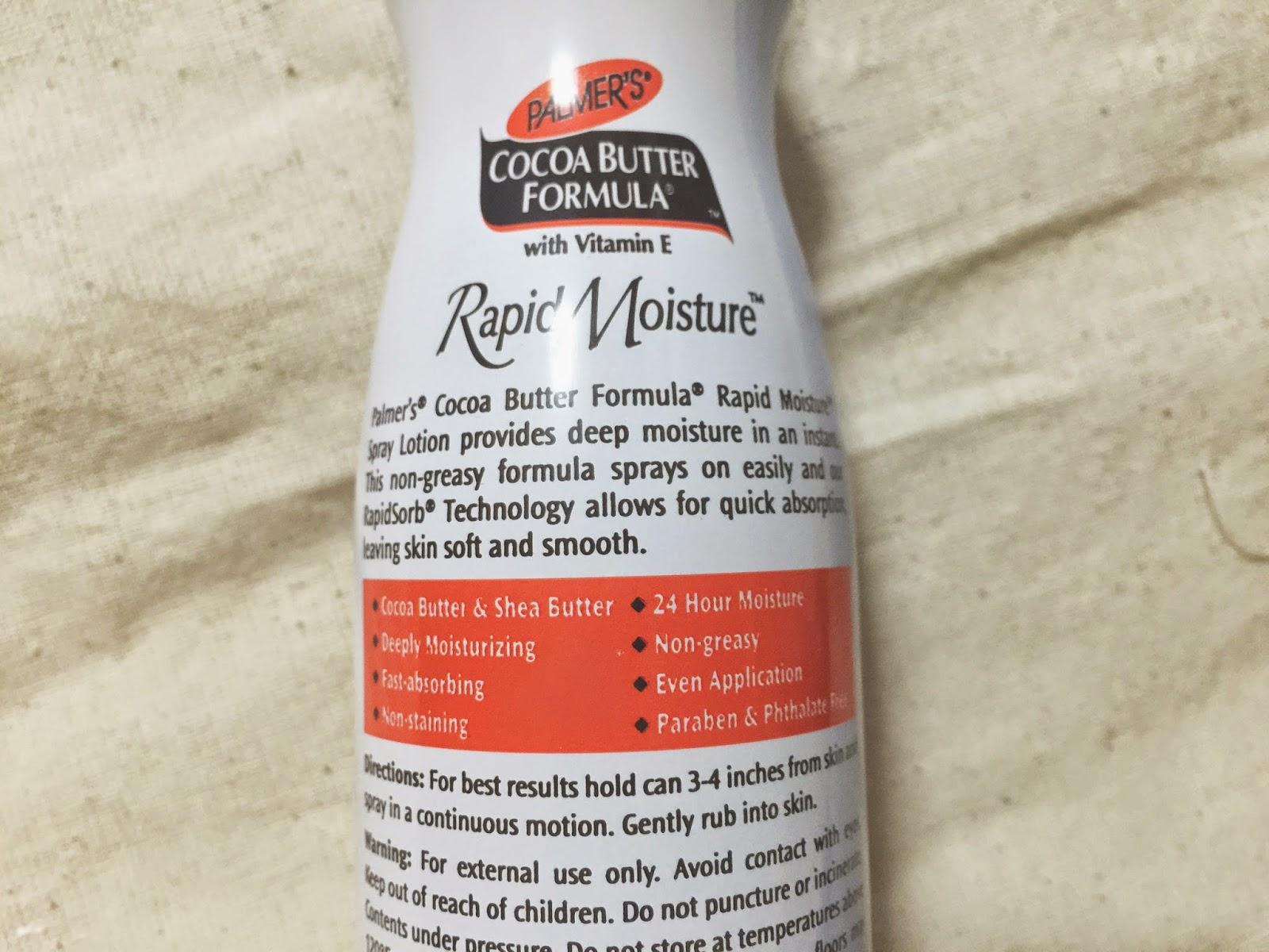 Deep moisture facial lotion