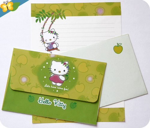 set de papier à lettre Hello Kitty