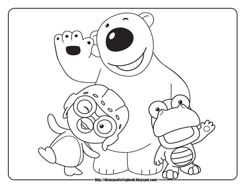 Pororo the Little Penguin: Free Disney Coloring Sheets title=