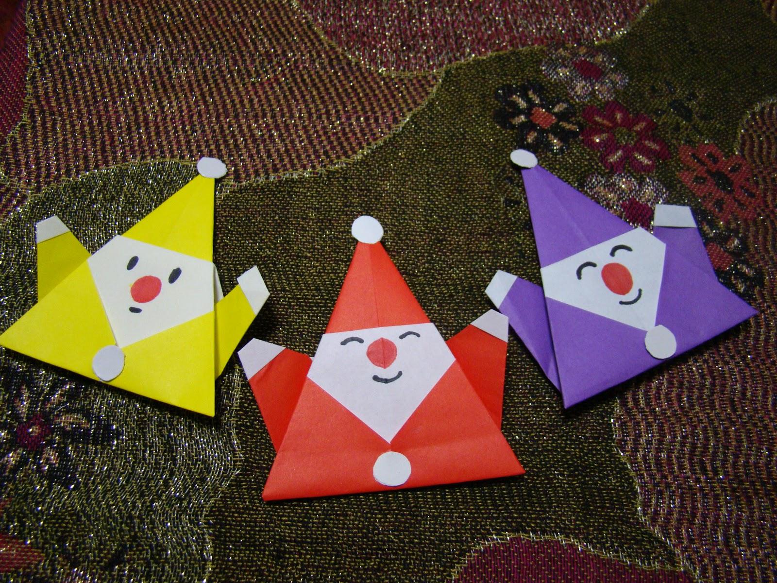 origami maniacs origami santa claus 2