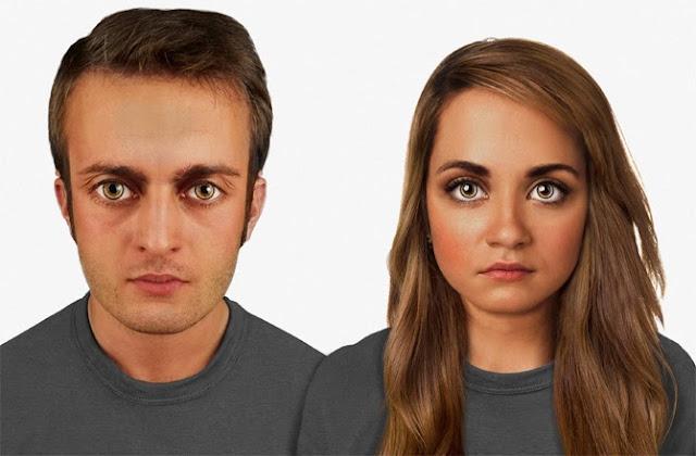 Năm 60.000. Đầu lớn hơn để chứa một bộ não lớn hơn. Sắc tố da tăng lên đáng kể để đối phó với bức xạ từ không gian. Mi mắt và lông mày cong hơn, dầy hơn để giảm bớt ảnh hưởng xấu của những phi hành gia khi ở trong môi trường ít hoặc không có trọng lực. Những thiết bị nhỏ được cấy ghép vào trong xương và hai bên tai để có thể tương tác trực tiếp với các thiết bị thông minh.