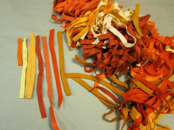 Como Hacer una alfombra con Tiras de Fieltro