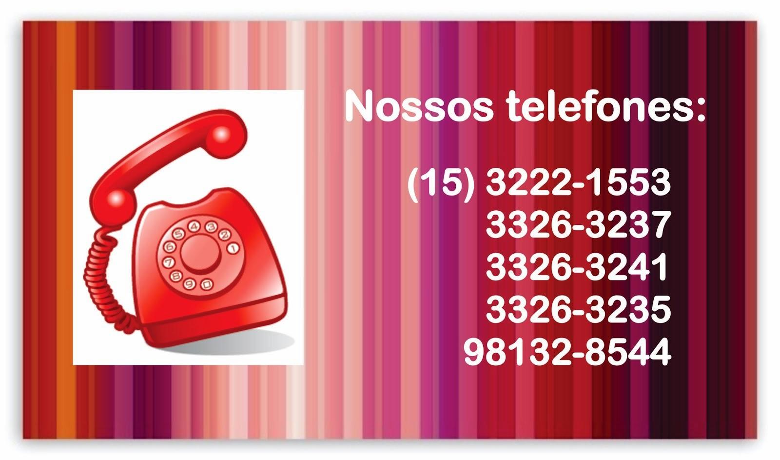 Informações e reservas pelo telefone, ligue para