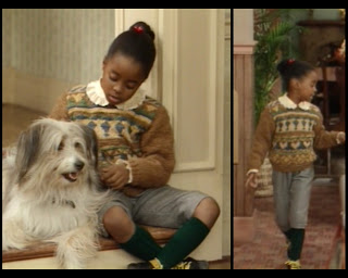 Cosby Show Huxtable fashion blog 80s sitcom Rudy Keshia Knight Pulliam dog