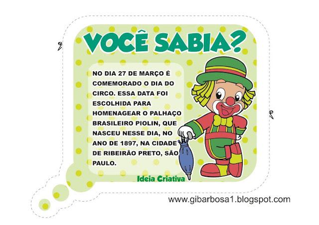 Painel Dia do Circo com Cartazes Ilustrados