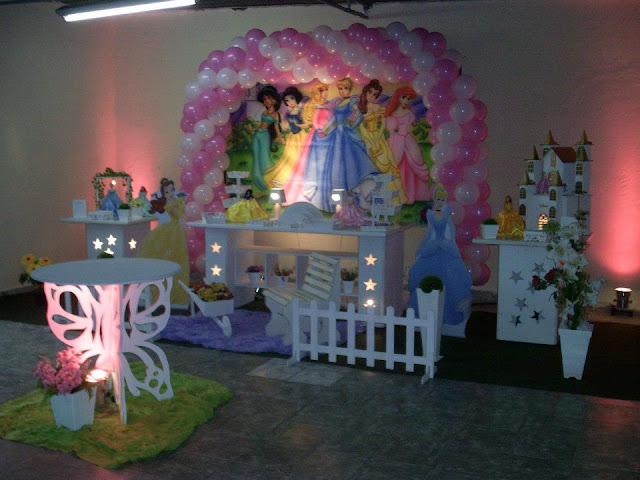Decoração provençal - tema Princesas Disney