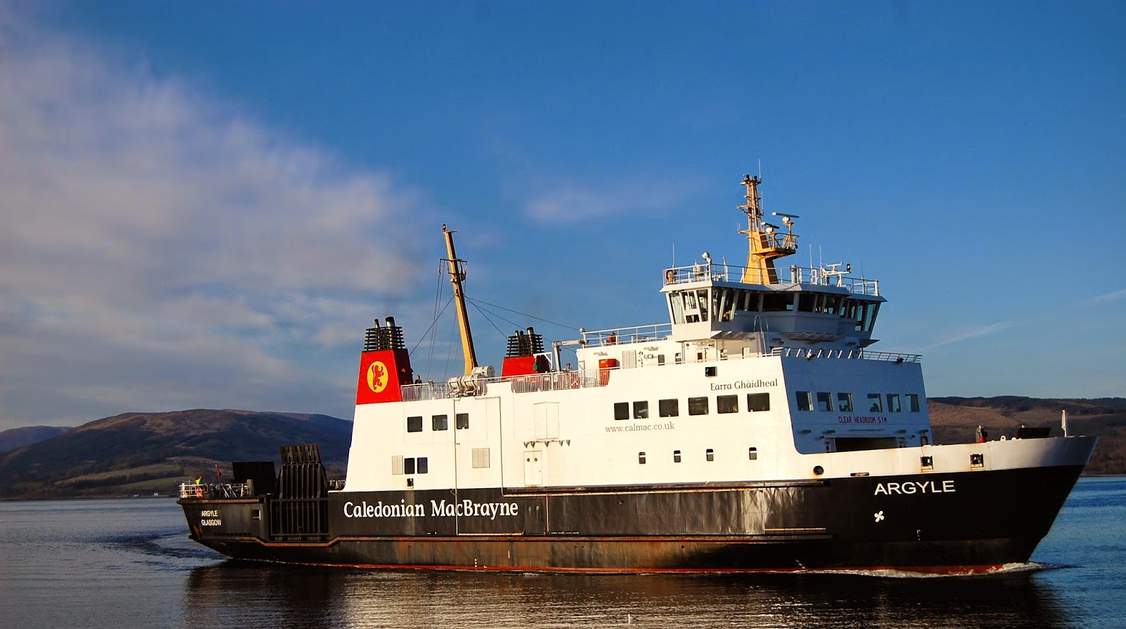 Caledonian MacBrayne ferry boat between Wemyss Bay and Rothesay