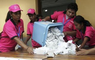 Timor/Eleições: Resultados provisórios das legislativas - contados mais de 300 mil votos