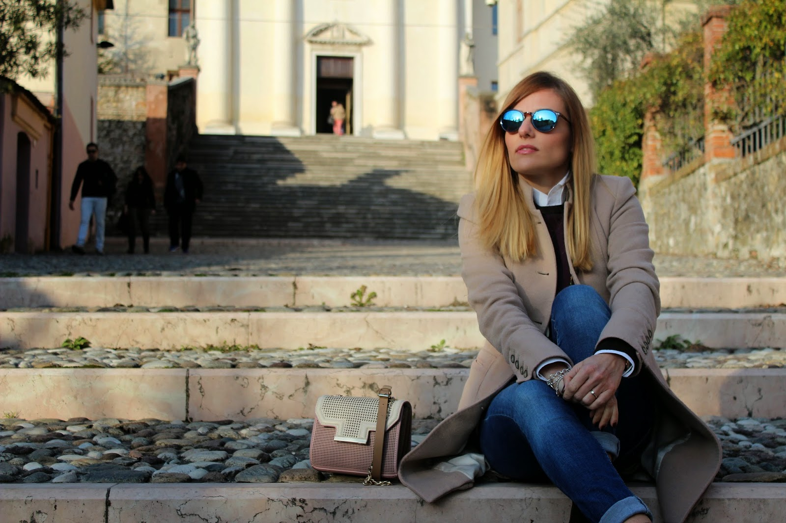 Eniwhere Fashion - Camel coat and Zara Bag