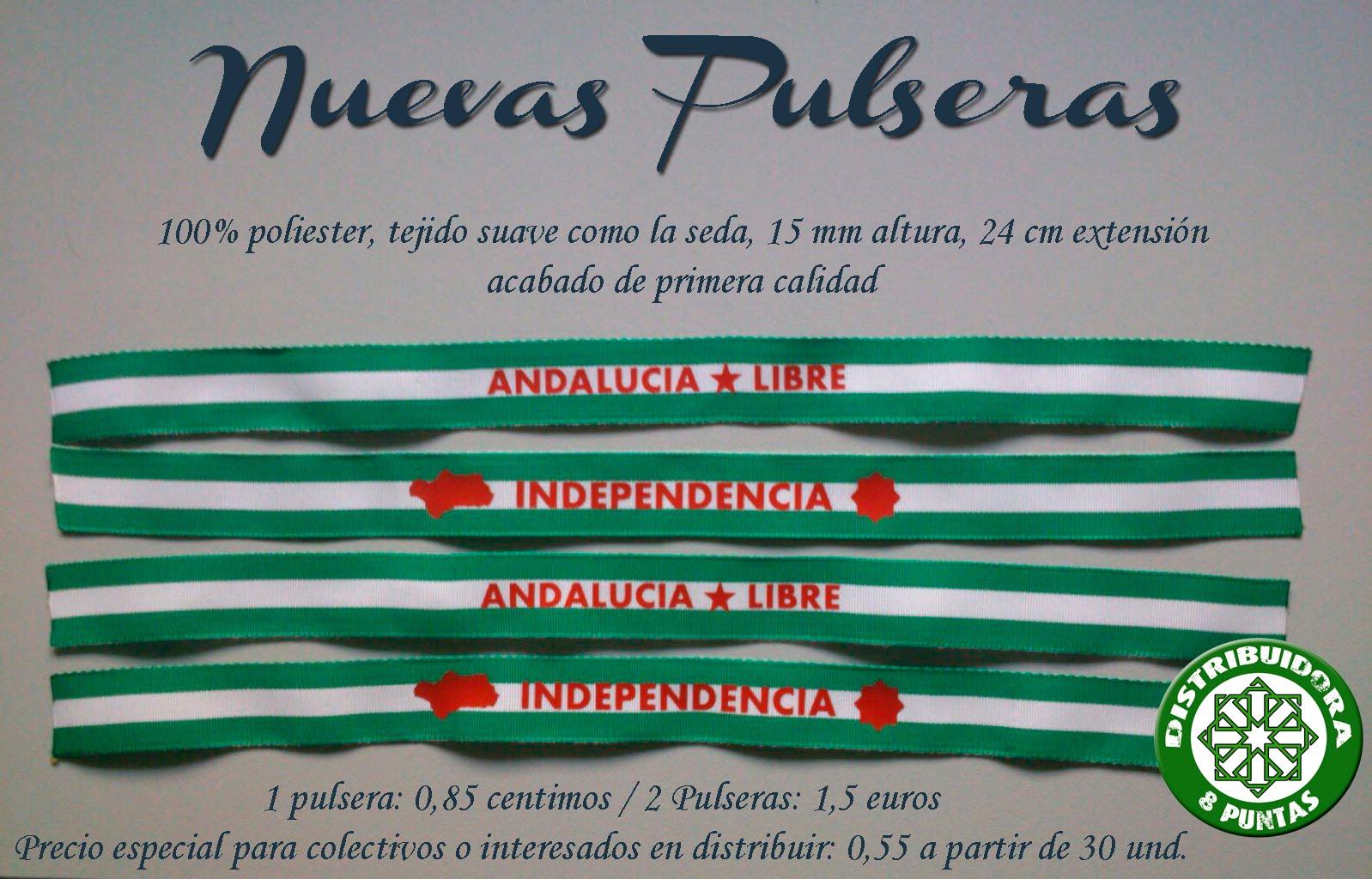 """Pulseras """"Andalucía Libre"""" e """"Independencia"""""""