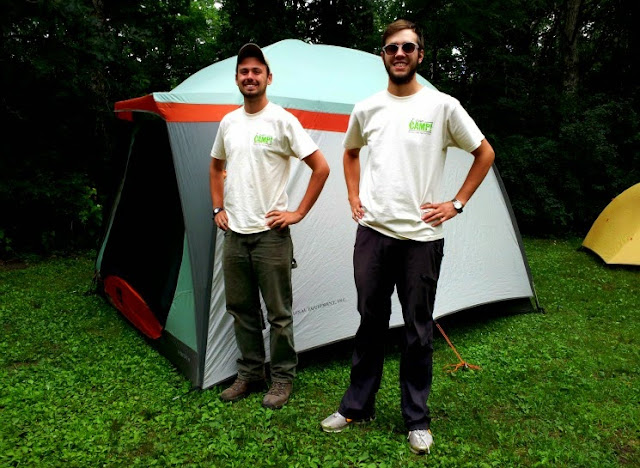 jason and chase our i can camp crew at minneopa state park