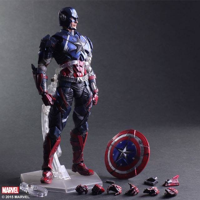 Play Arts Kai Captain America Action Figure Marvel Series
