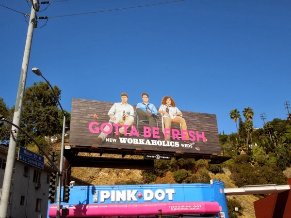 Workaholics season 4 special billboard Sunset Strip