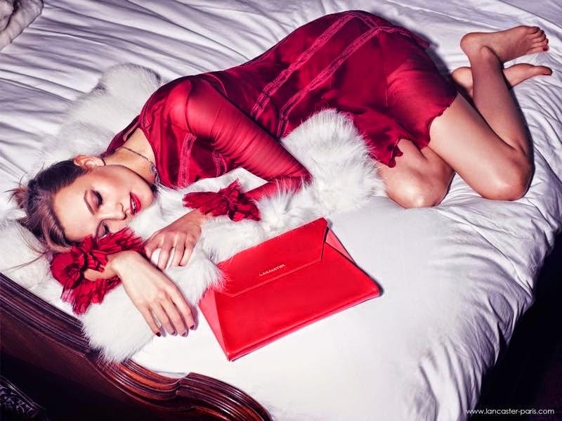 Lancaster Paris Holiday 2014 Campaign featuring Karlie Kloss