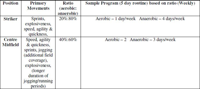 aerobic and anaerobic activities