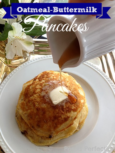 Oatmeal-Buttermilk Pancakes