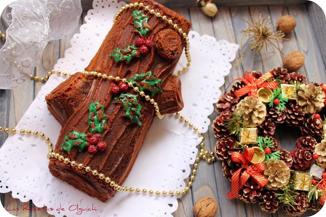 BUNDT CAKE TRONCO DE NAVIDAD DE CHOCOLATE