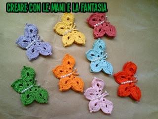 Creare Con Le Mani E La Fantasia Farfalle Uncinetto Bomboniere Cesta