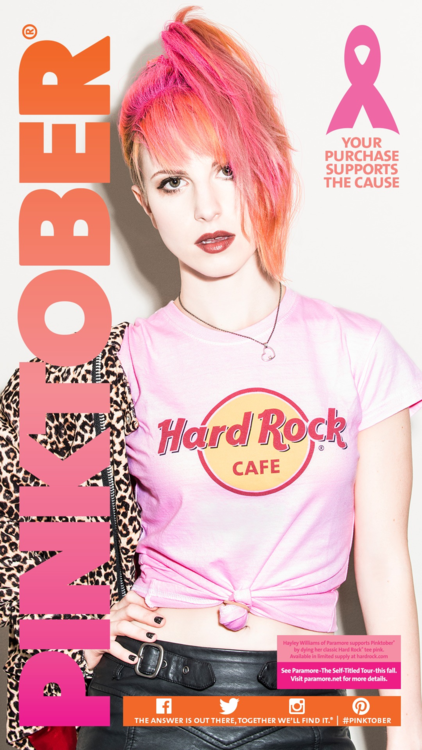 Hayley Williams Pinktober 2013