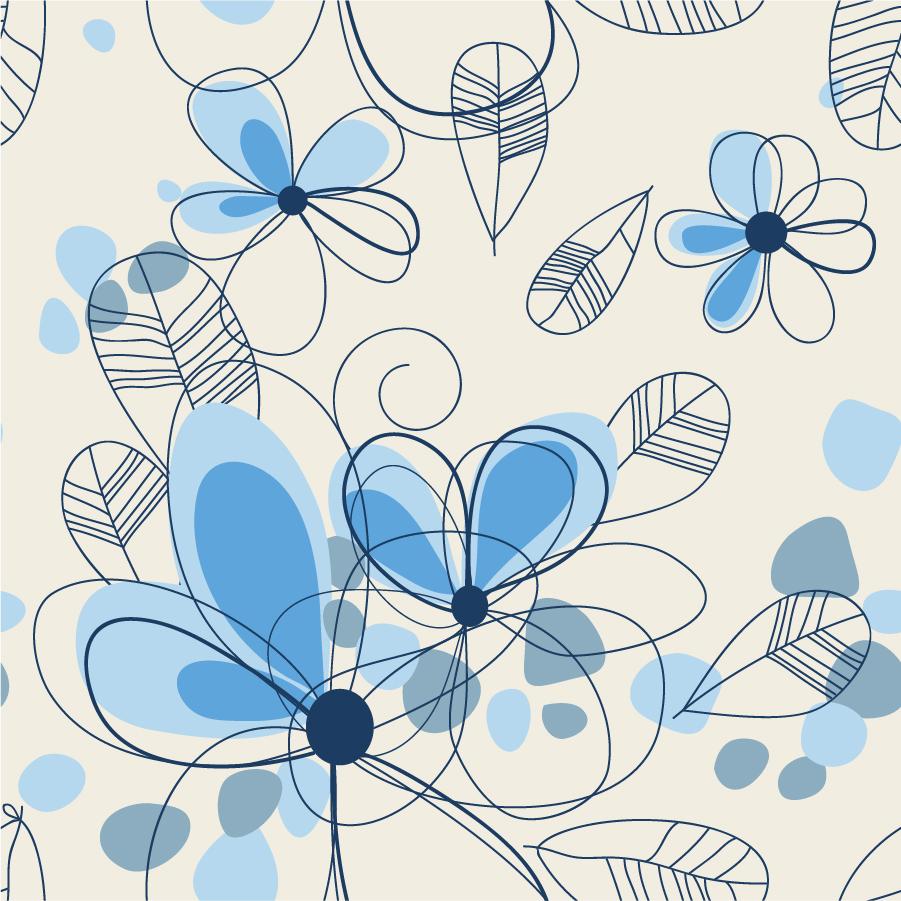 花ビラのラインアート Abstract Summer Floral Background イラスト素材