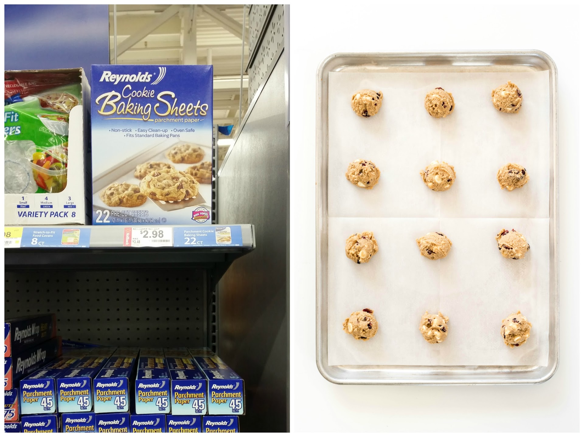 reynolds cookie baking sheets review, food blogger, recipe, cookie photography