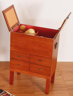 caja madera costura, costurero de madera, caja madera labor