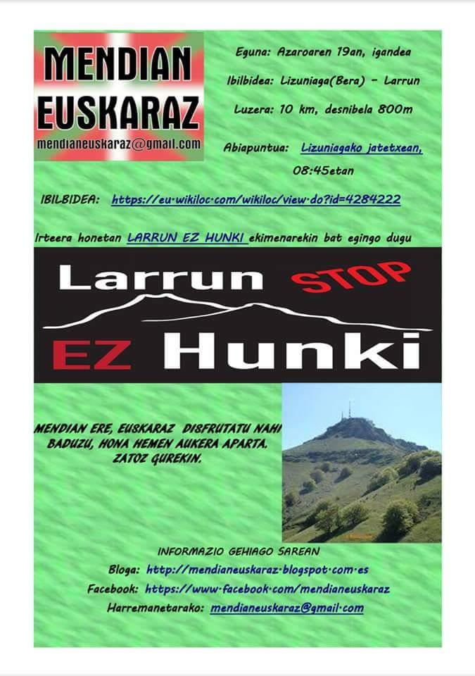 Larrun Ez Hunki! mendi martxa
