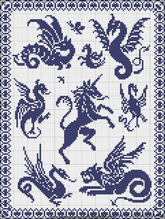 Королевская вышивка крестом схемы